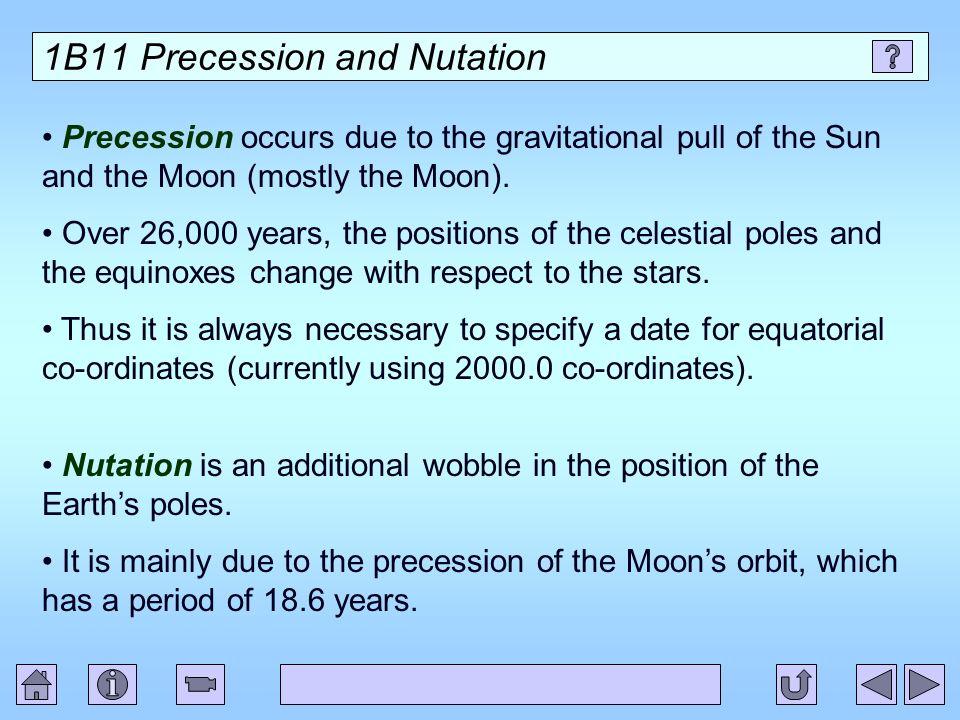 1B11 Precession and Nutation