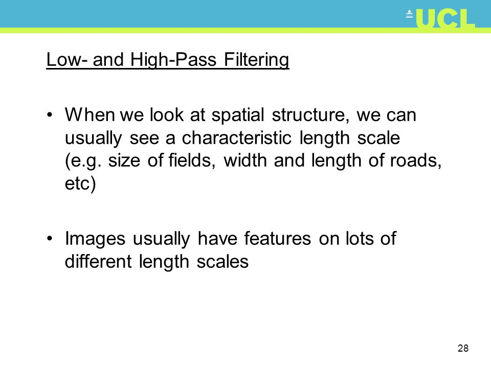 Low- and High-Pass Filtering