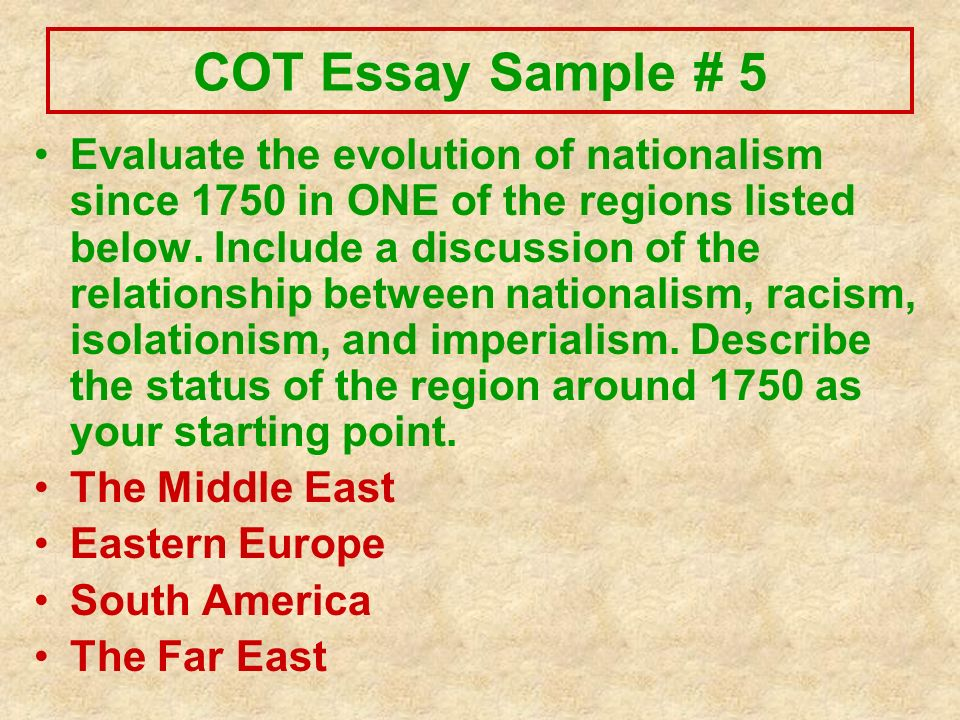 change over time essays five handy examples ppt video online  cot essay sample 5