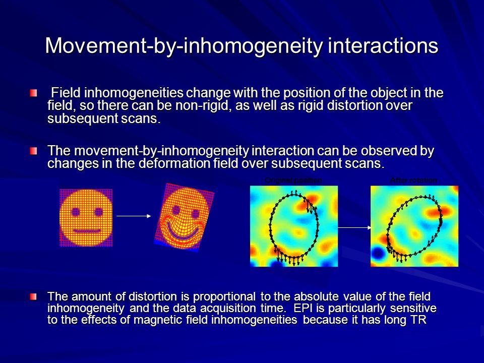Movement-by-inhomogeneity interactions