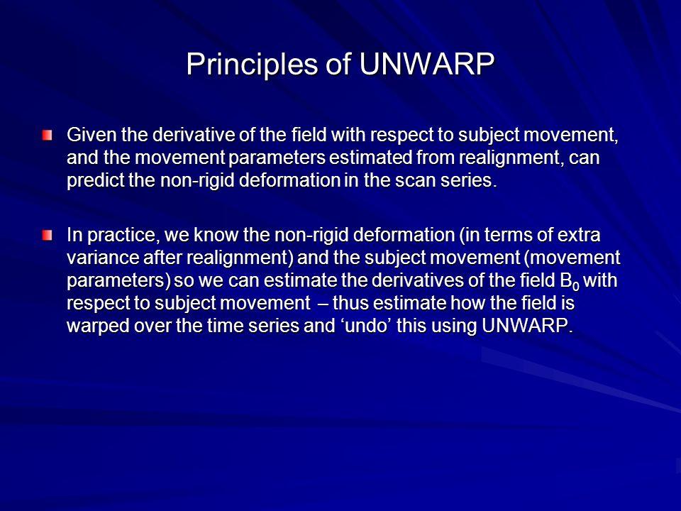 Principles of UNWARP