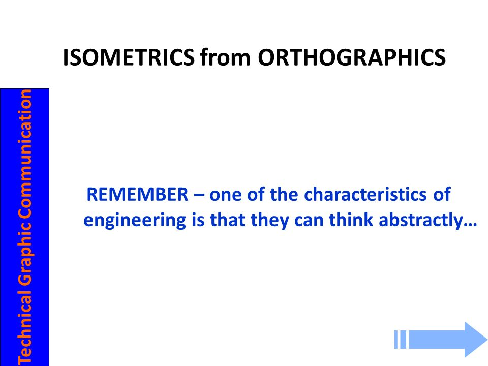 ISOMETRICS from ORTHOGRAPHICS Technical Graphic Communication