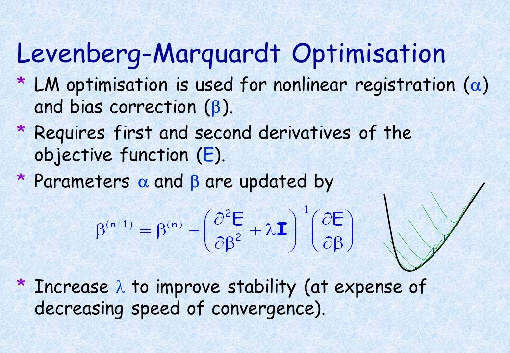 Levenberg-Marquardt Optimisation
