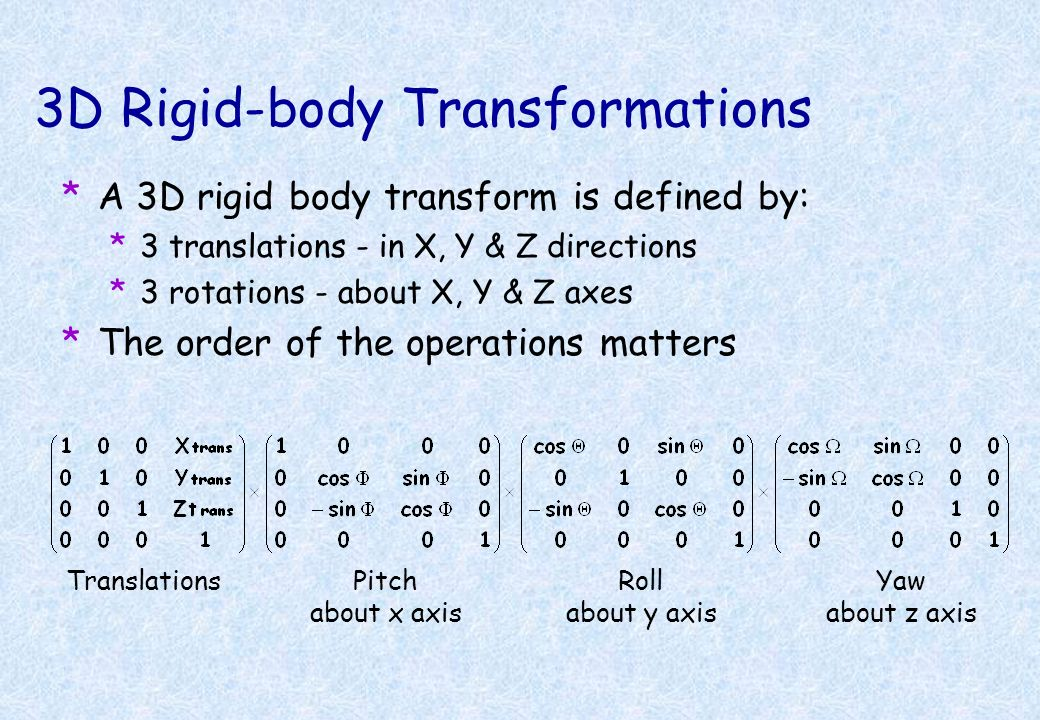 3D Rigid-body Transformations
