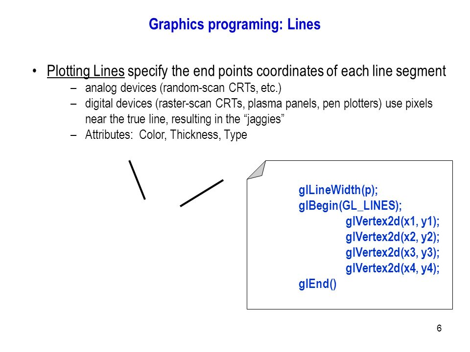 Types Of Line Drawing Algorithm : Introduction to computer graphics ppt output