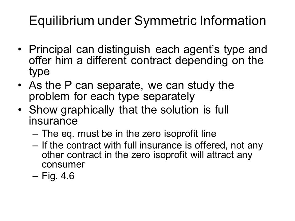 Equilibrium under Symmetric Information