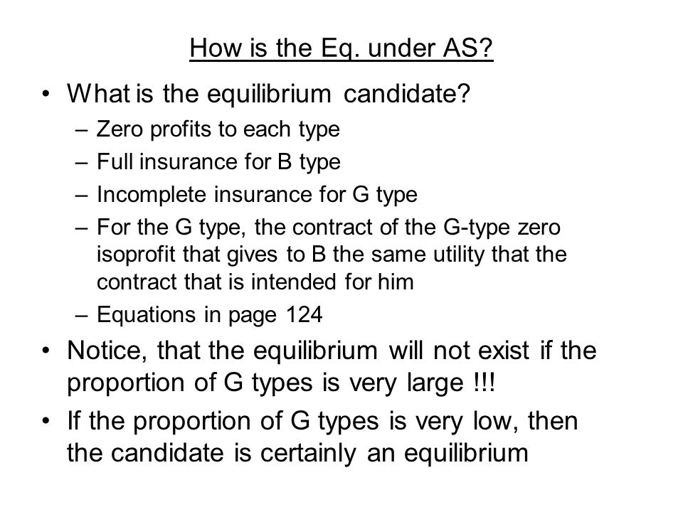 What is the equilibrium candidate