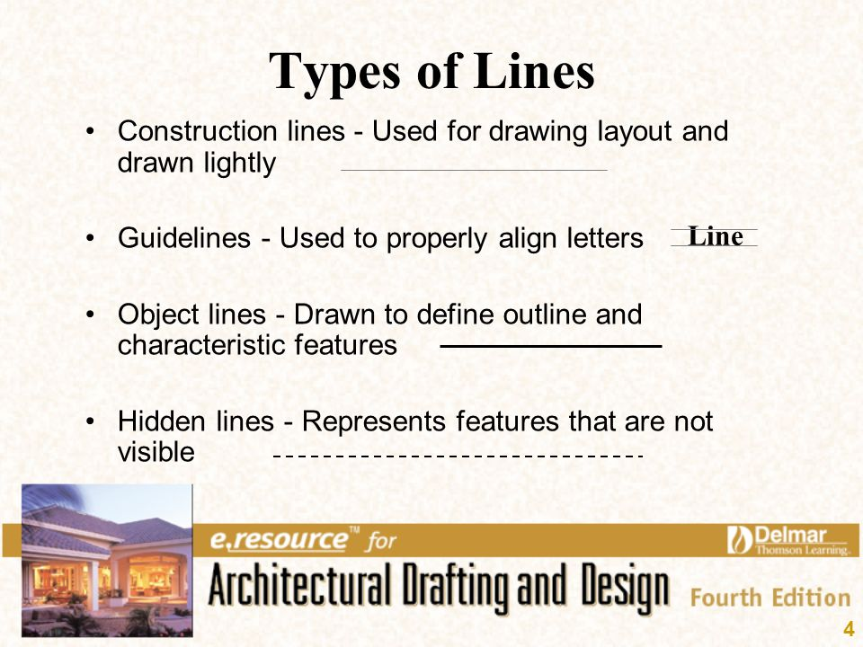 Drawing Lines Definition : Architectural lines and lettering ppt video online download