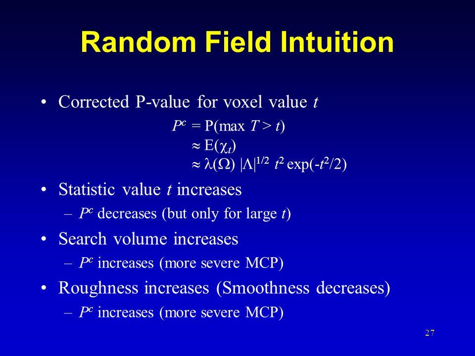Random Field Intuition