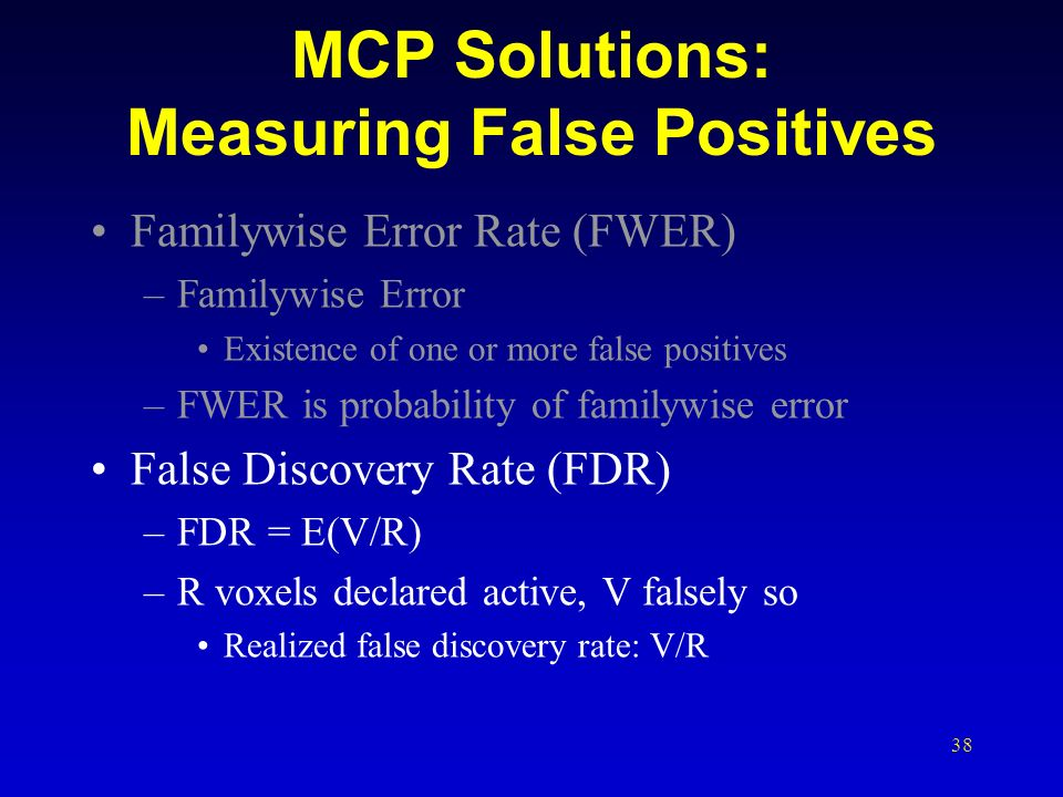 MCP Solutions: Measuring False Positives
