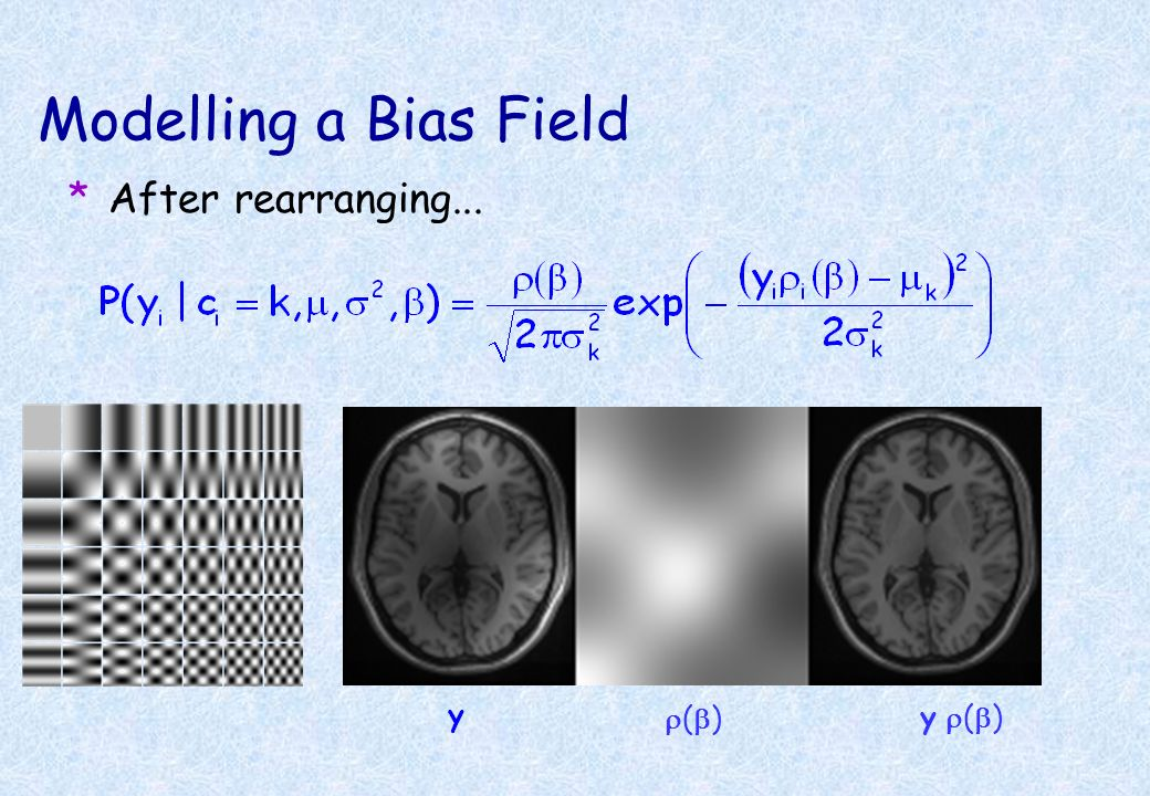 Modelling a Bias Field After rearranging... y r(b) y r(b)