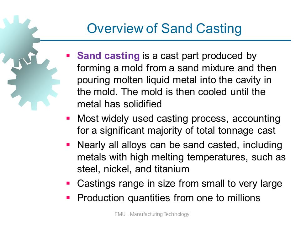an overview of the process of casting Casting process the casting process is the point in manufacture when most of the defects are introduced into the cast part from: complete casting handbook (second edition), 2015.