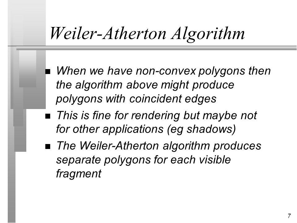 Weiler-Atherton Algorithm