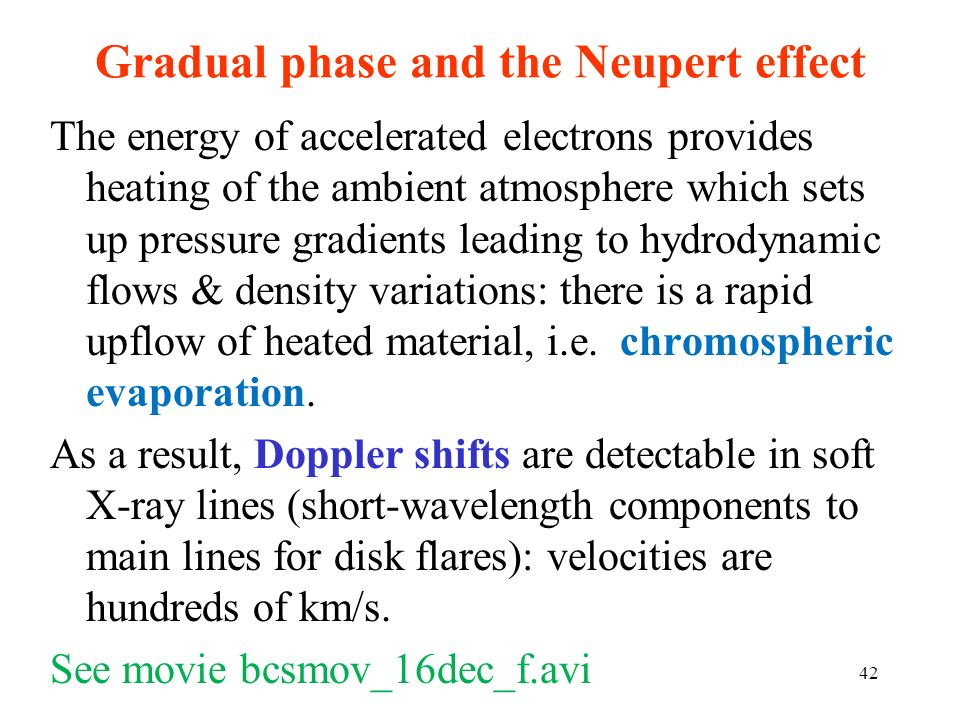 Gradual phase and the Neupert effect