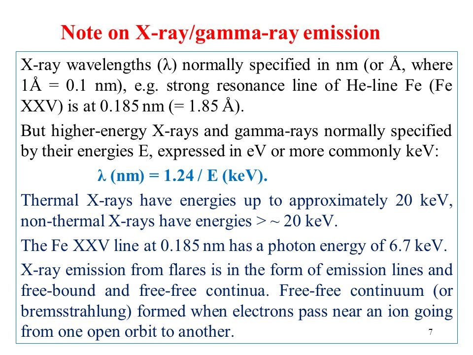 Note on X-ray/gamma-ray emission