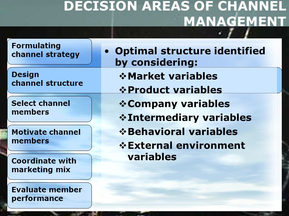 evaluating prospective channel member Securing the prospective channel members as actual channel members  finding prospective channel members 2 applying selection criteria to determine the suitability of prospective channel members 3the selection process 1.