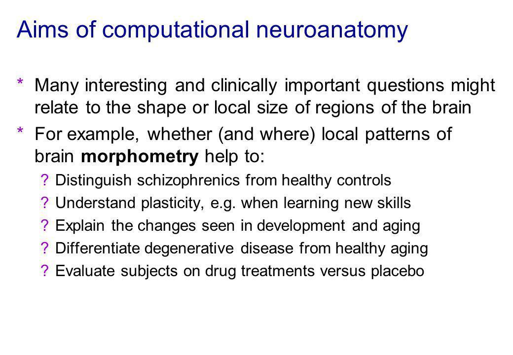 Aims of computational neuroanatomy