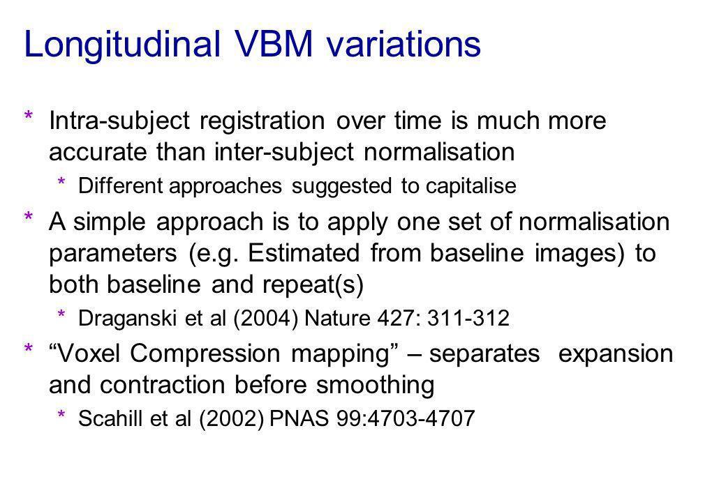 Longitudinal VBM variations
