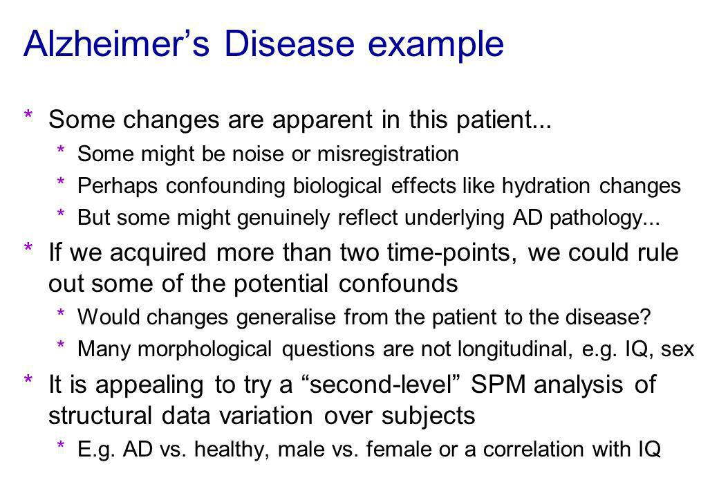 Alzheimer's Disease example