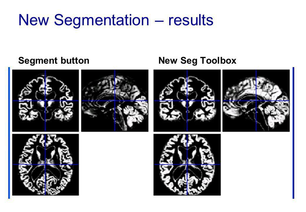 New Segmentation – results