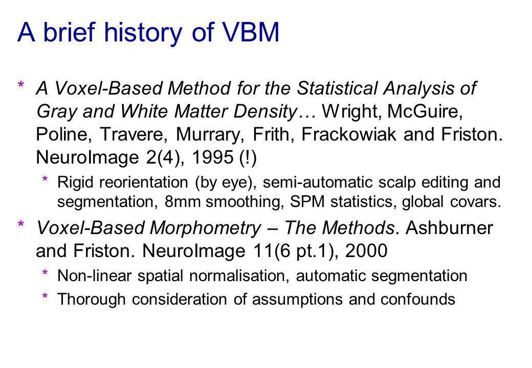 A brief history of VBM