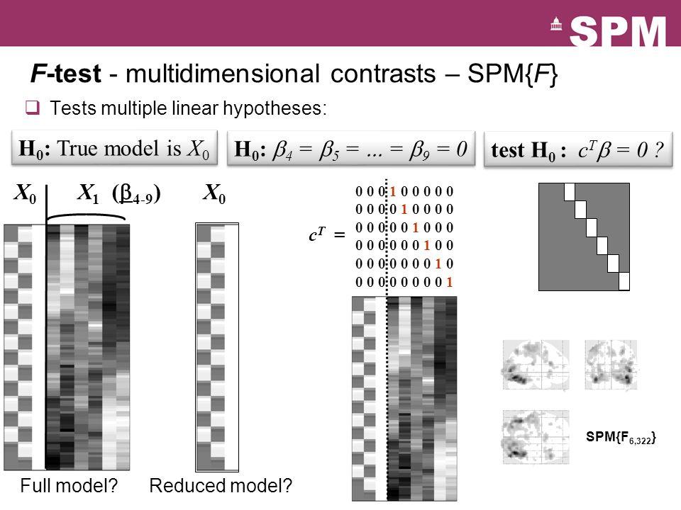 F-test - multidimensional contrasts – SPM{F}