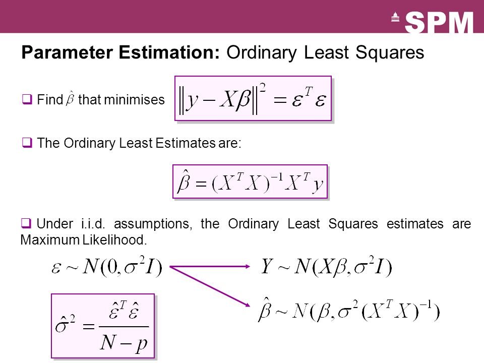 Parameter Estimation: Ordinary Least Squares