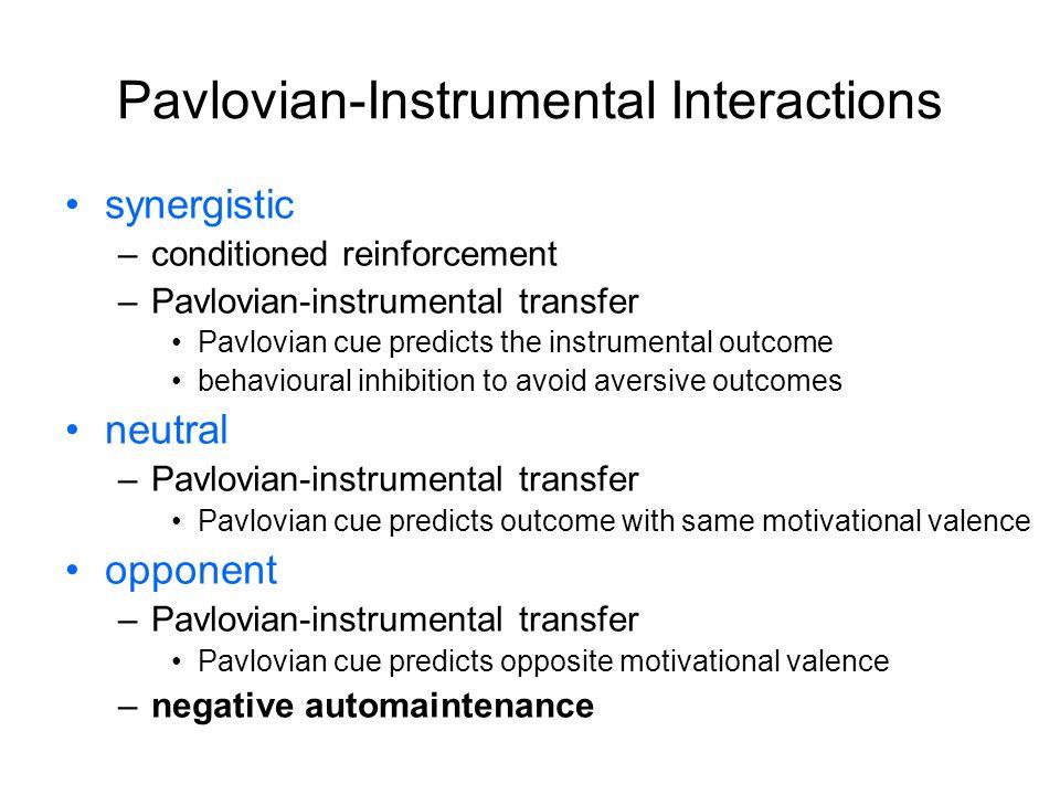 Pavlovian-Instrumental Interactions