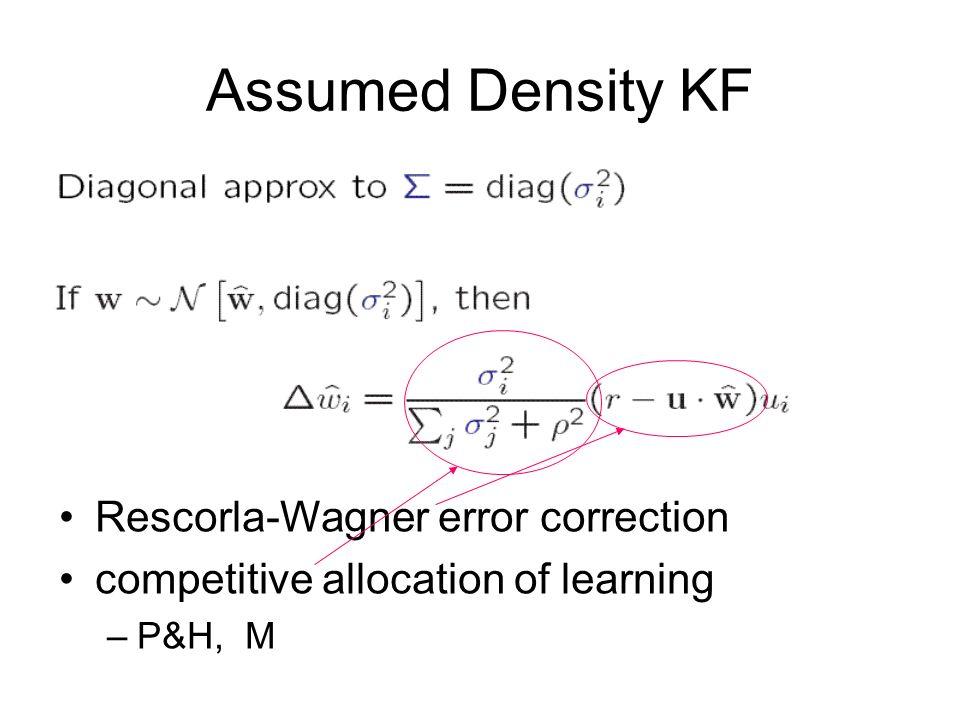 Assumed Density KF Rescorla-Wagner error correction
