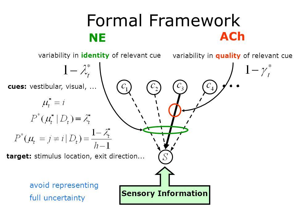 Formal Framework ACh NE avoid representing full uncertainty