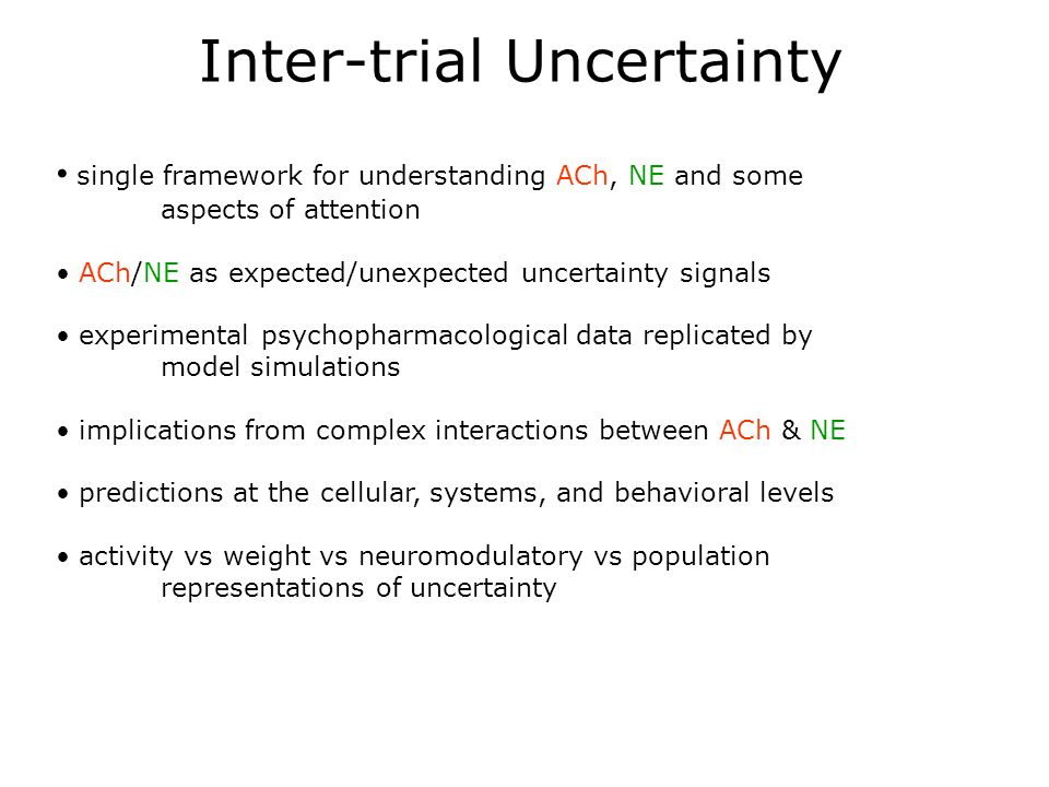 Inter-trial Uncertainty