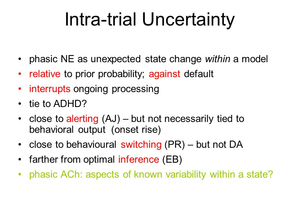 Intra-trial Uncertainty
