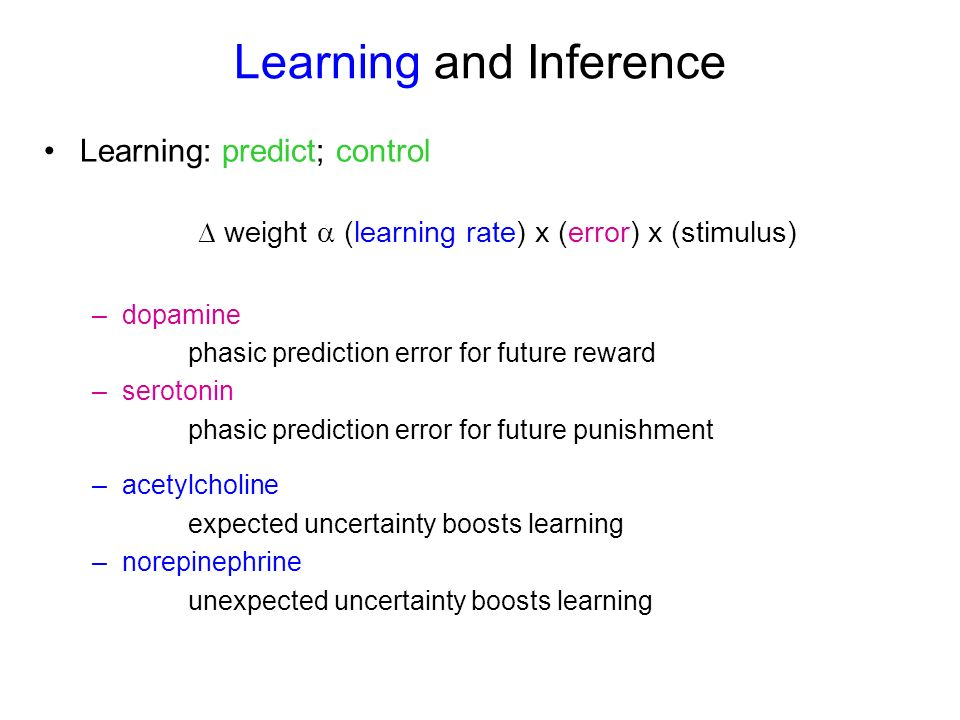 Learning and Inference