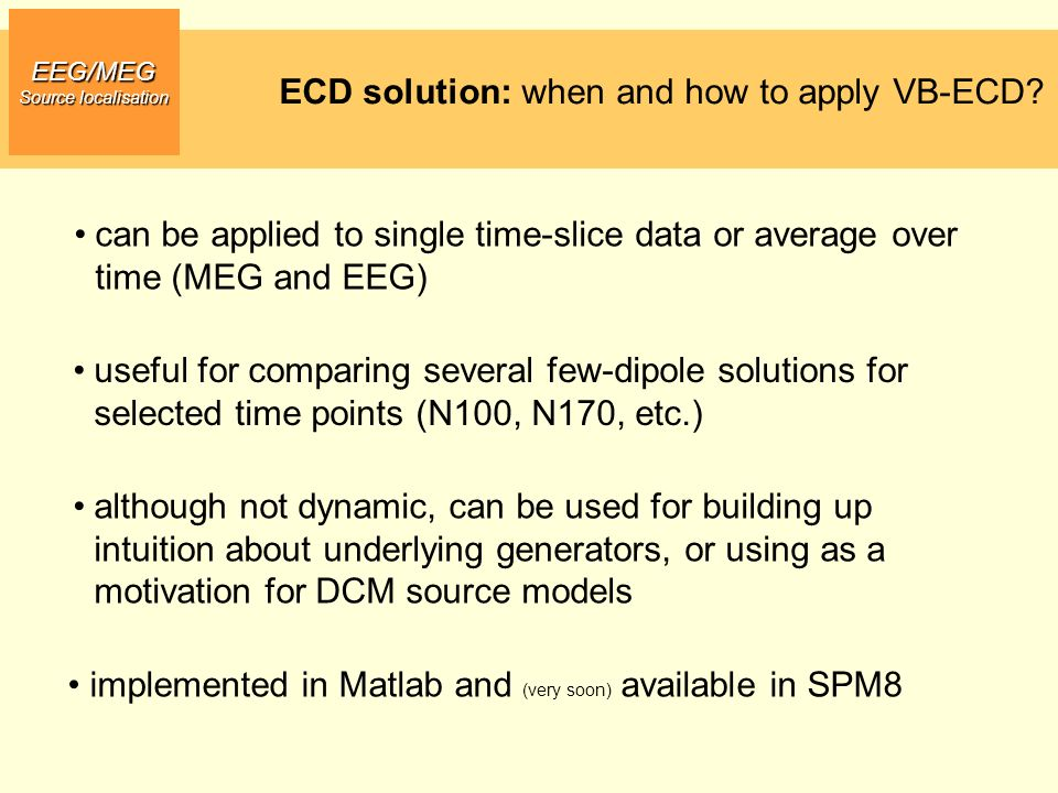 ECD solution: when and how to apply VB-ECD