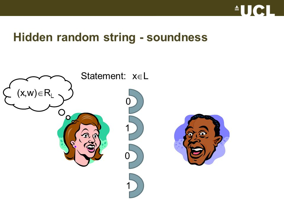 Hidden random string - soundness