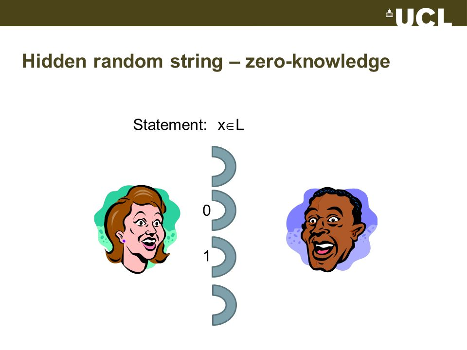 Hidden random string – zero-knowledge