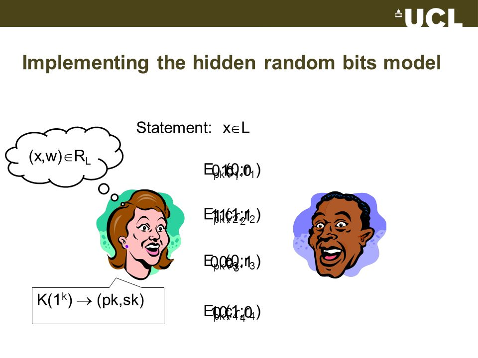 Implementing the hidden random bits model