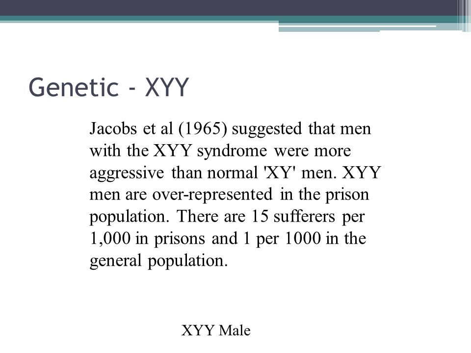 XYY Syndrome - NORD (National Organization for Rare Disorders)