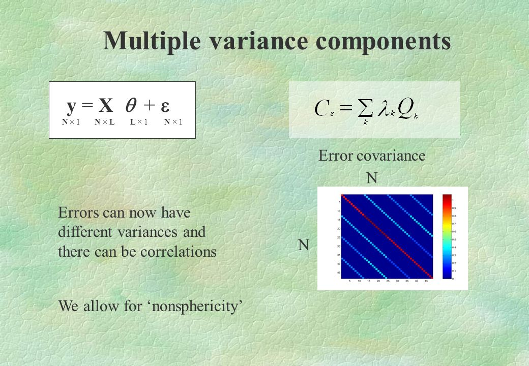 Multiple variance components