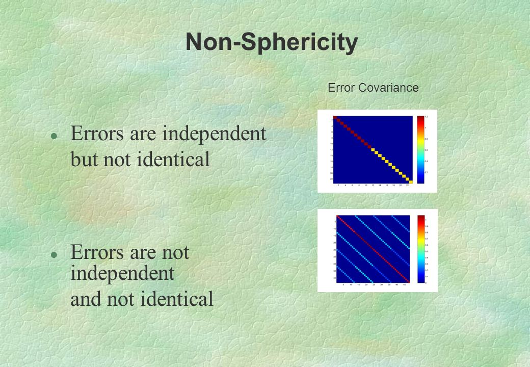 Non-Sphericity Errors are independent but not identical