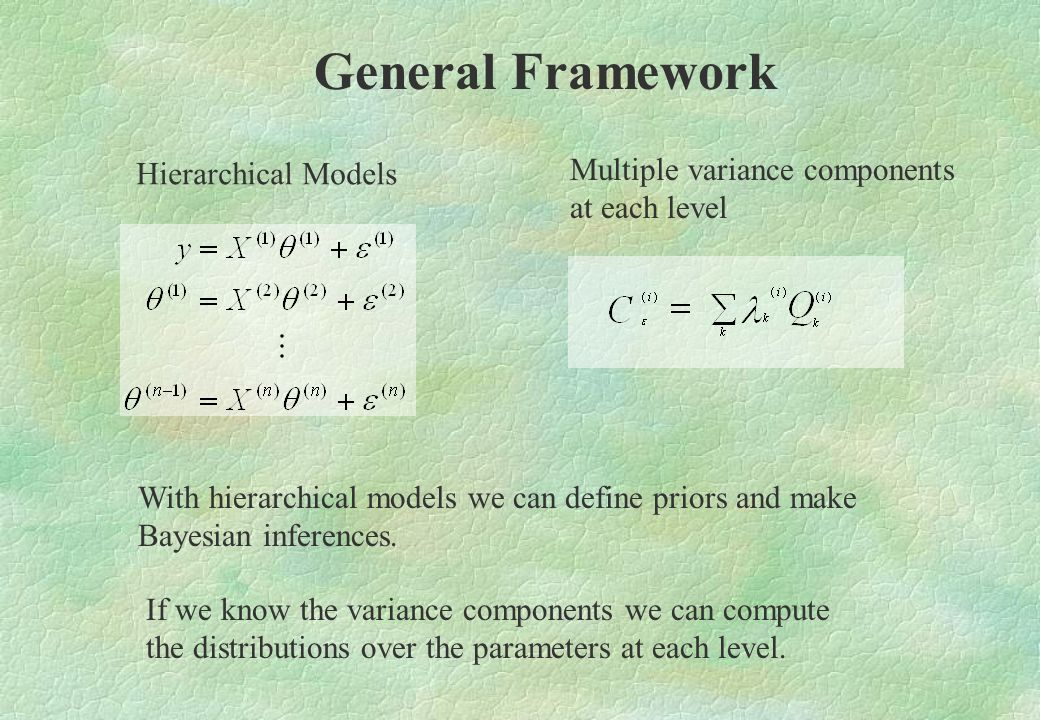 General Framework Multiple variance components Hierarchical Models