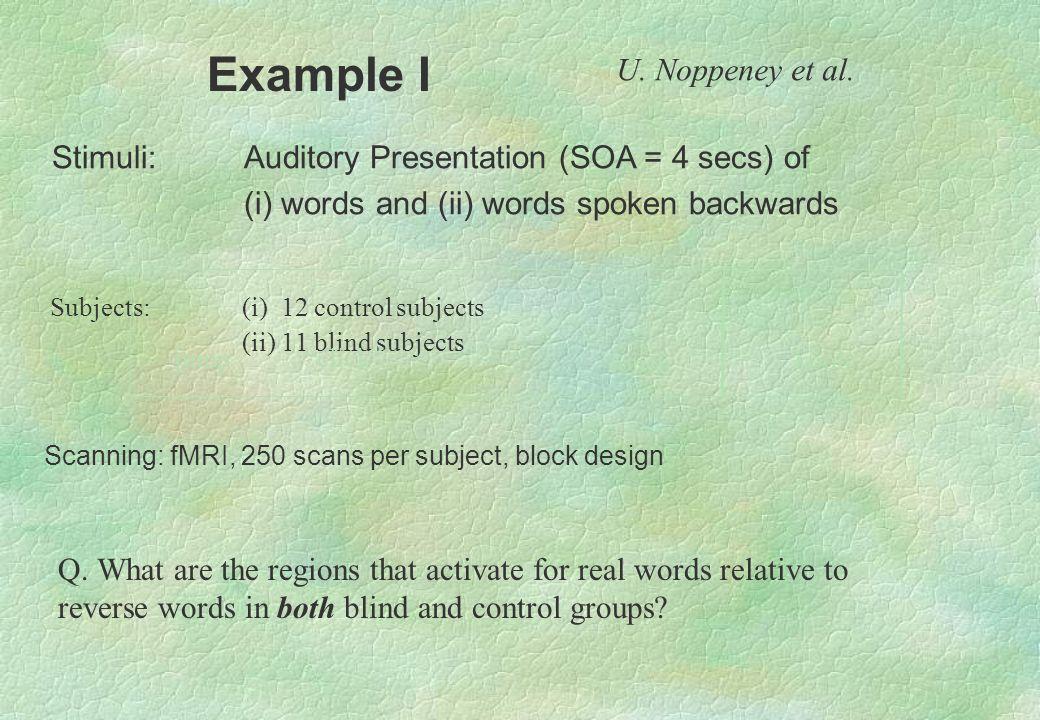 Example I U. Noppeney et al.