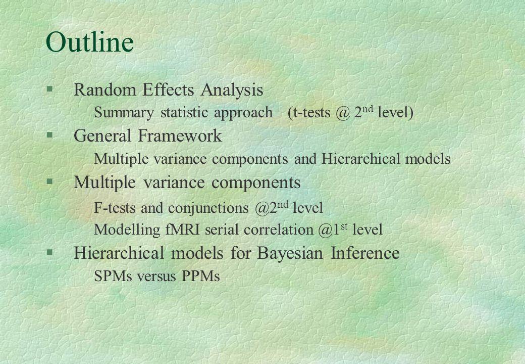 Outline Random Effects Analysis General Framework