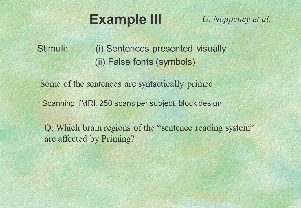 Example III U. Noppeney et al.