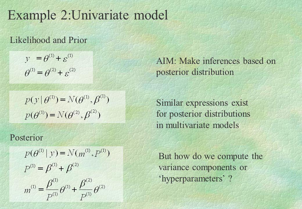 Example 2:Univariate model