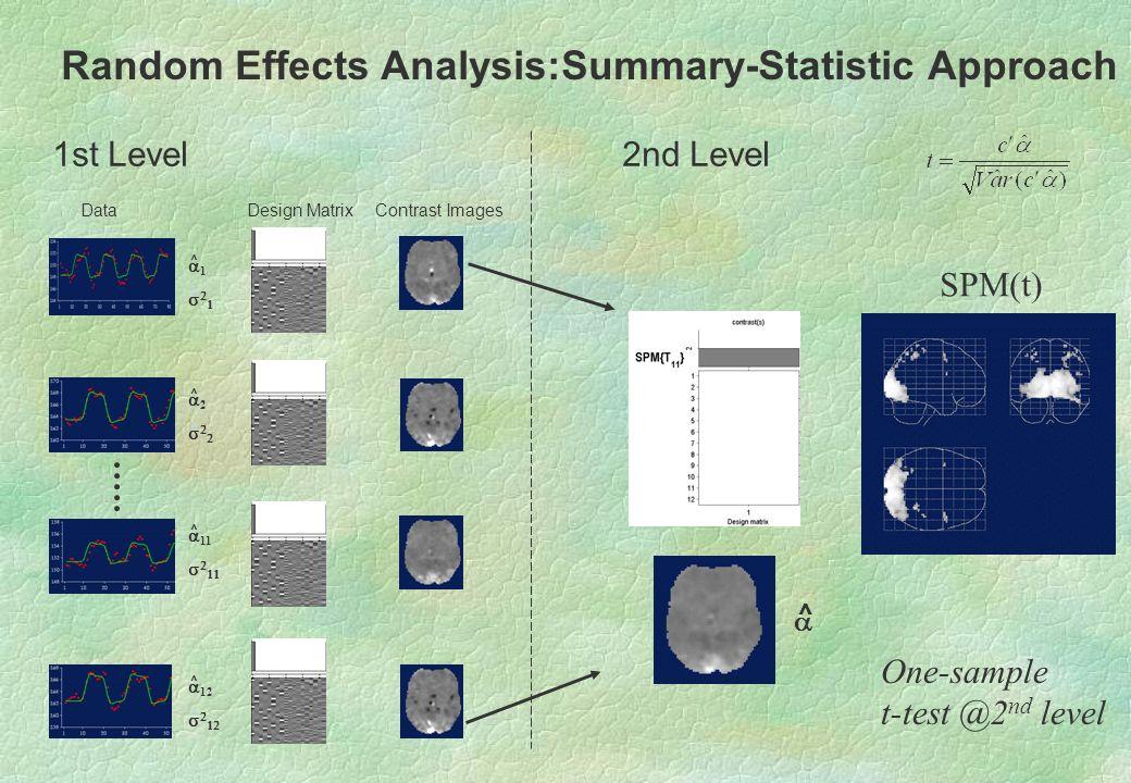 Random Effects Analysis:Summary-Statistic Approach