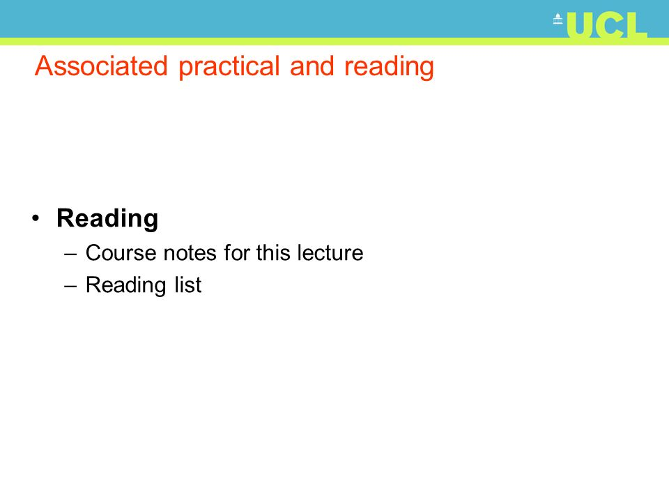 Associated practical and reading