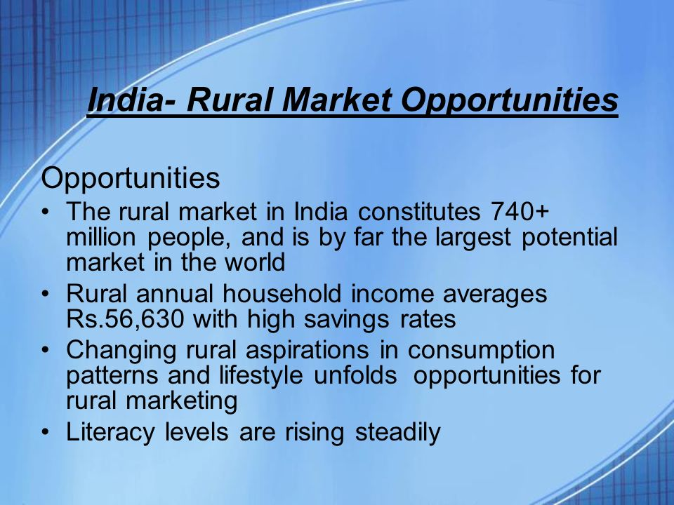 india rural market a critical Rural markets a critical link for small farmer development report on the fao/dse asian regional evaluation workshop on rural market centre development programme, bangalore, india, 28 april - 2.