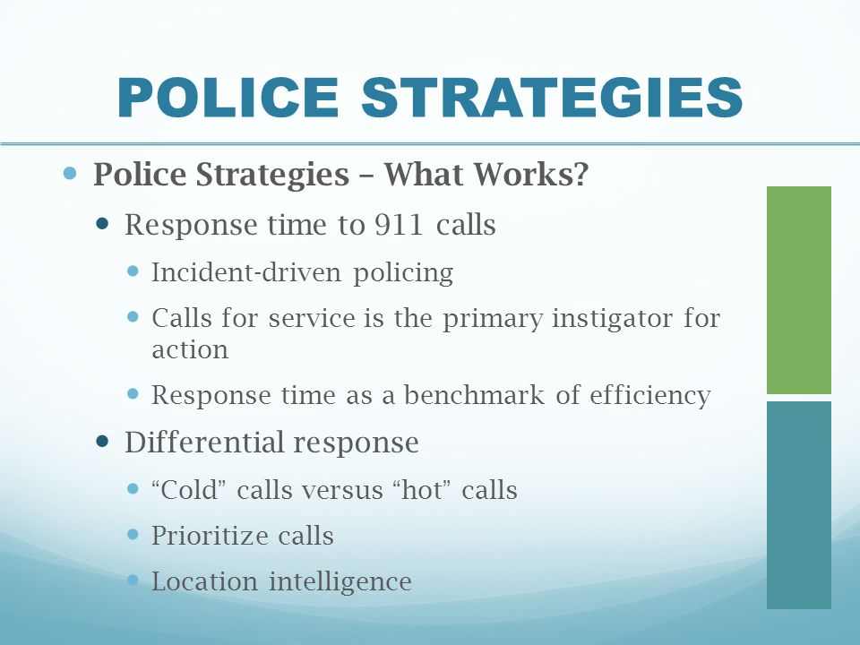 reactive patrol response An ottawa police officer criticizes how the force handles its promotions and patrol officers in an internal email response to chief  now we've become reactive.