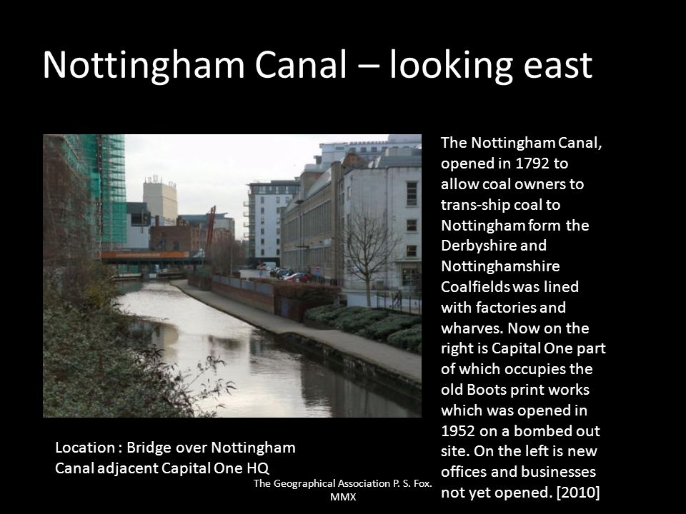 Nottingham Canal – looking east